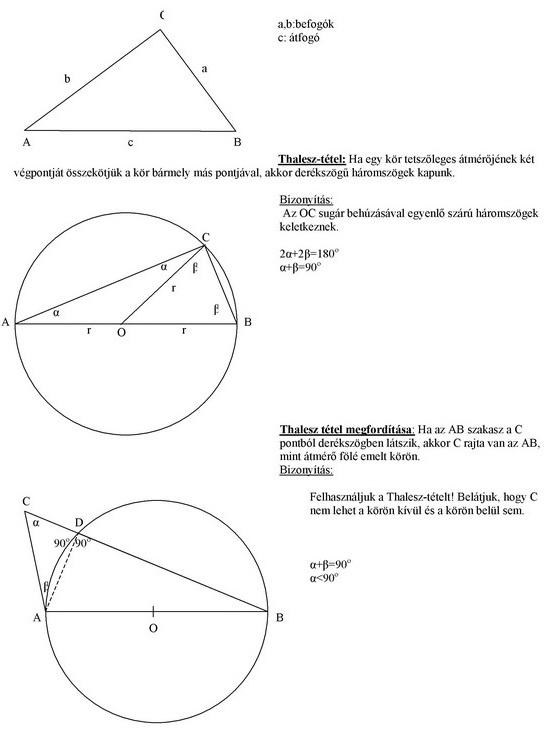 Derékszögű háromszögek
