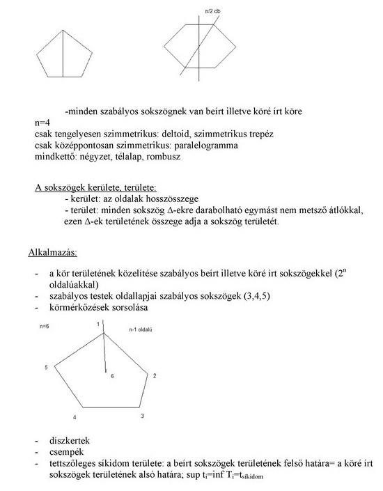 Sokszögek, szimmetrikus sokszögek