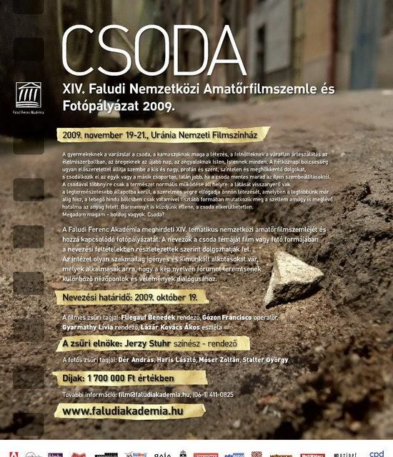 CSODA – XIV. Faludi Nemzetközi Amatőrfilmszemle és Fotópályázat 2009