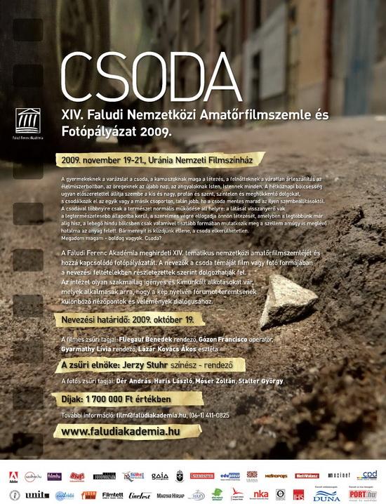 CSODA - XIV. Faludi Nemzetközi Amatőrfilmszemle és Fotópályázat 2009