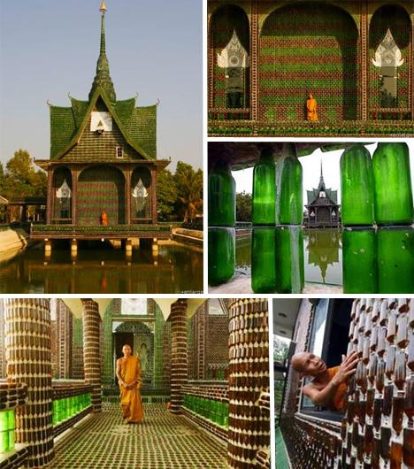 Buddhista templom sörösüvegből?