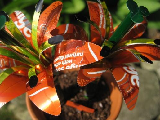 Fémdobozból csodaszép virágok