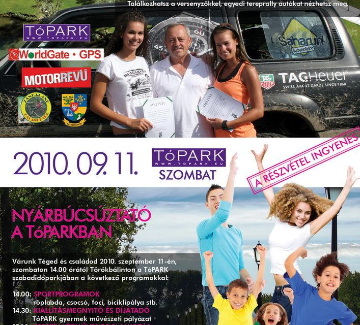 TóPARK – Nyárbúcsúztató gyermek- és ifjúsági nap
