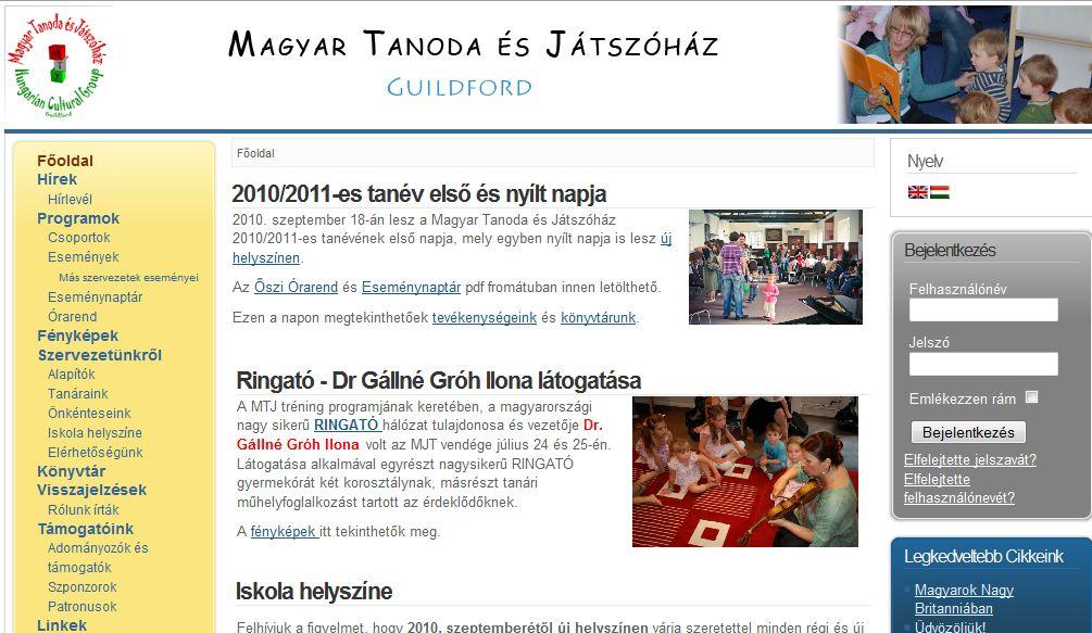 Angliai Magyar Tanoda es Jatszohaz/Hungarian Cultural Group
