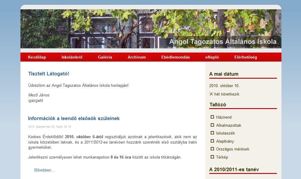 Angol Tagozatos Általános Iskola Budapest