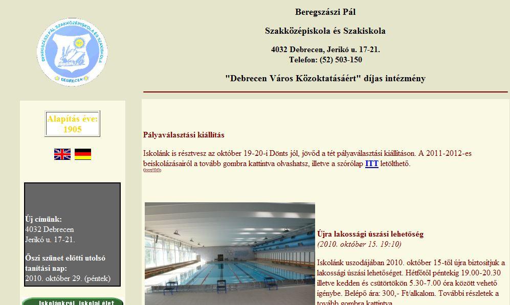 Beregszászi Pál Szakközépiskola és Szakiskola Debrecen