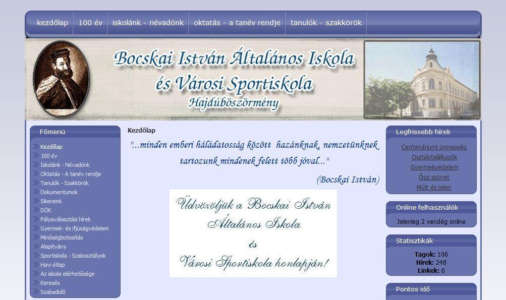 Bocskai István Általános Iskola és Városi Sportiskola Hajduböszörmény