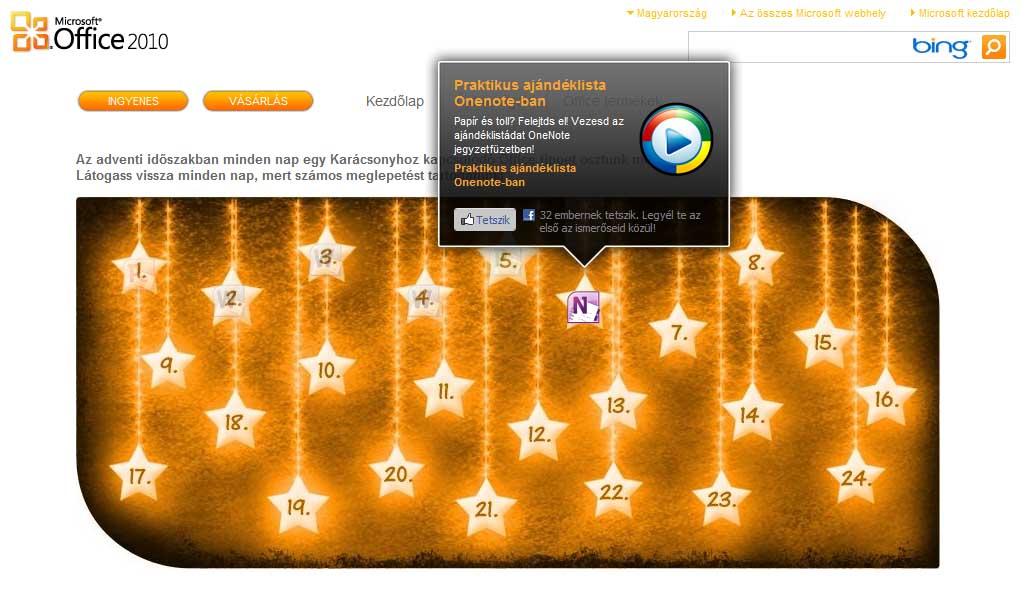 Karácsonyi ötletek az Office 2010-el