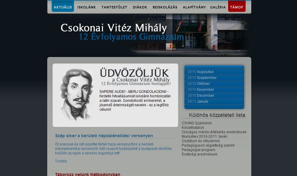 Csokonai Vitéz Mihály 12 Évfolyamos Gimnázium Budapest