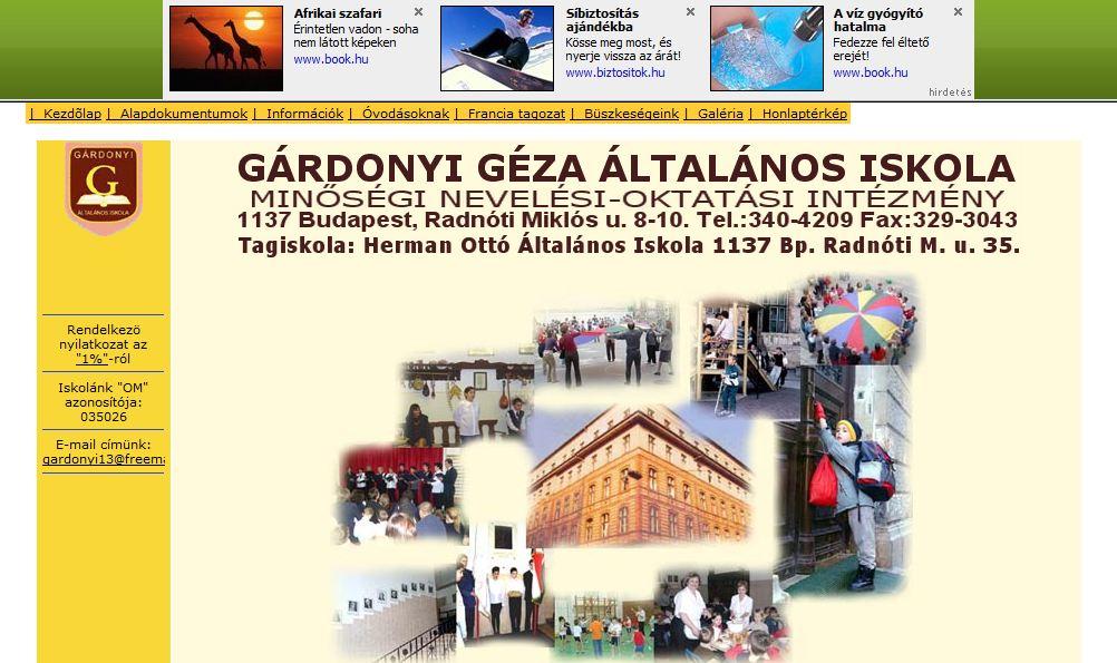 Gárdonyi Géza Általános Iskola Budapest
