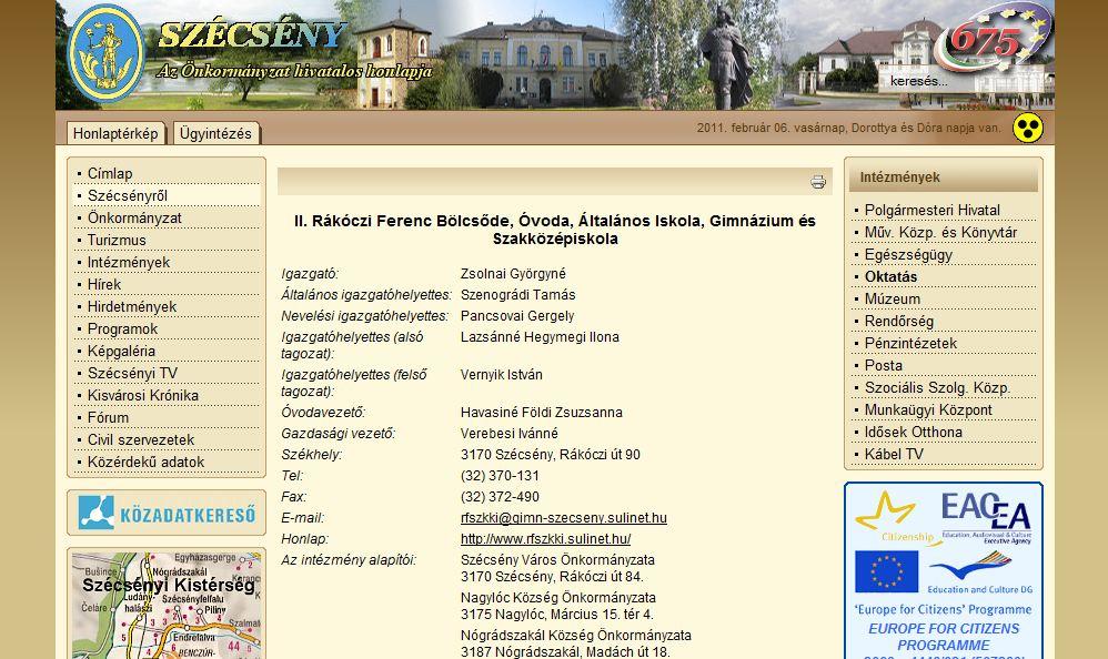 II. Rákóczi Ferenc B. ó. á. Sz. G Szécsény