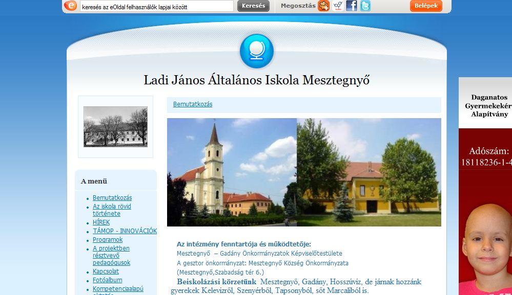 Ladi János Általános Iskola Mesztegnyő