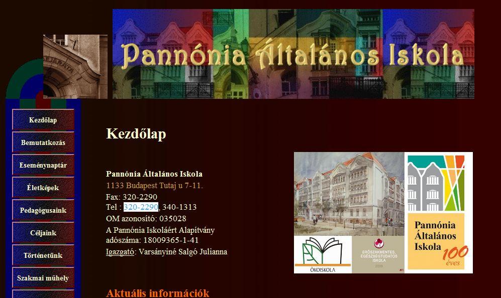 Pannónia Általános Iskola Budapest