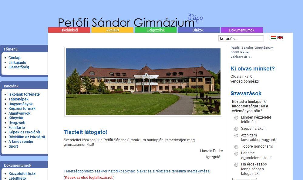 Petőfi Sándor Gimnázium Pápa