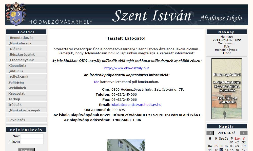 Szent István Általános Iskola Hódmezővásárhely