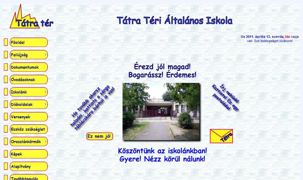 Tátra Téri Általános Iskola Budapest