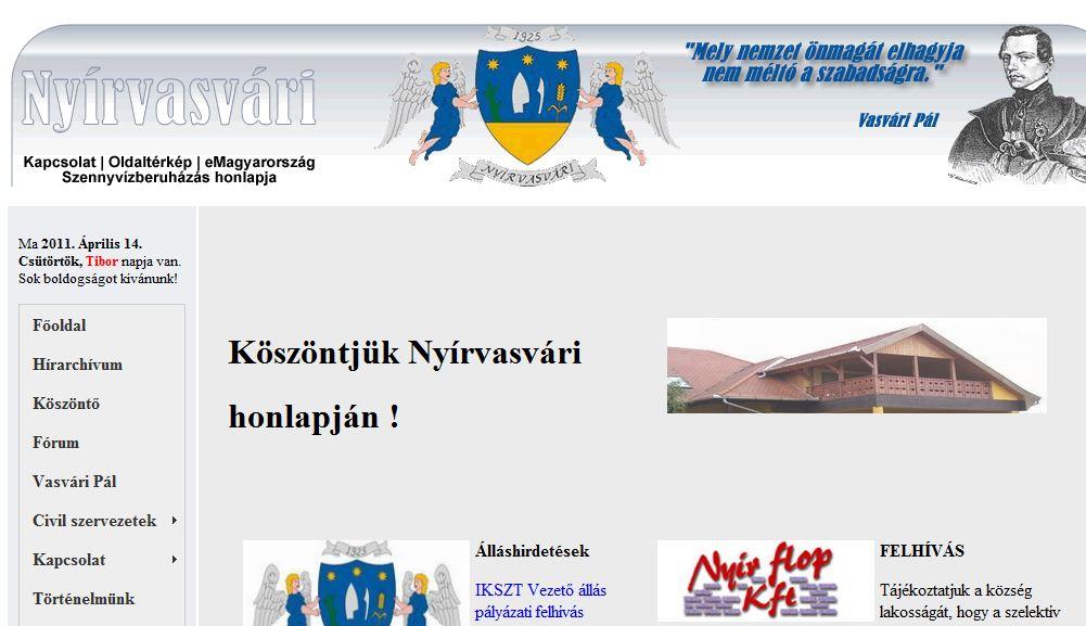 Vasvári Pál Általános Iskola Nyírvasvári