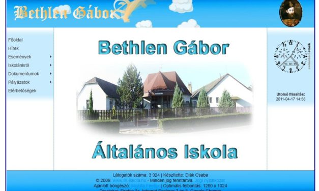 Bethlen Gábor Általános Iskola Ilk