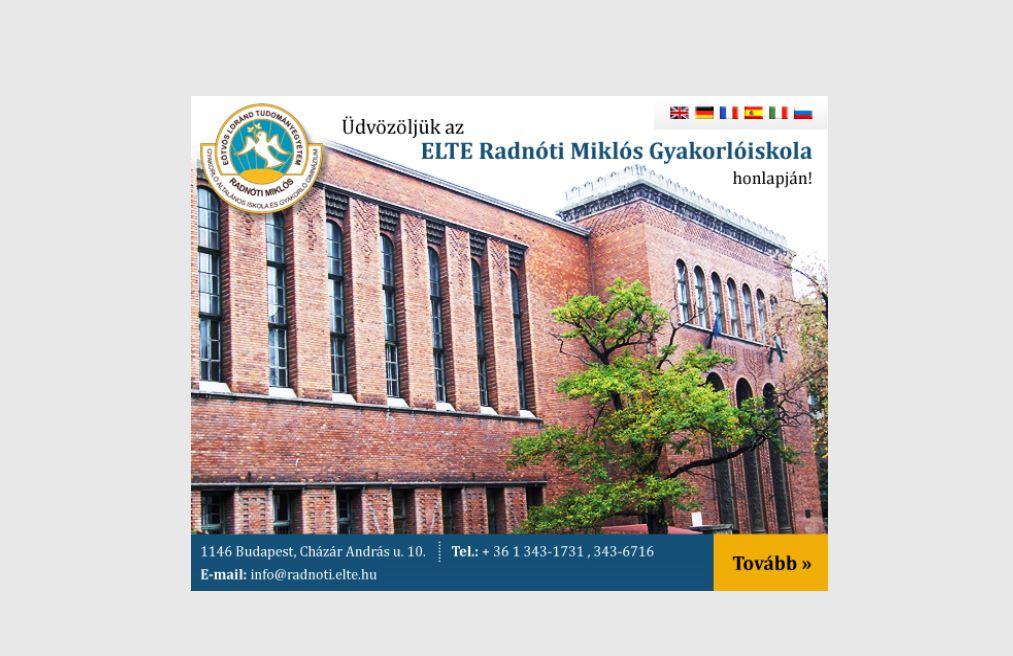 ELTE Radnóti Miklós Gyakorlóiskola Budapest