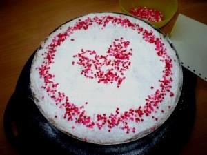 Habos desszertek Valentin Napra