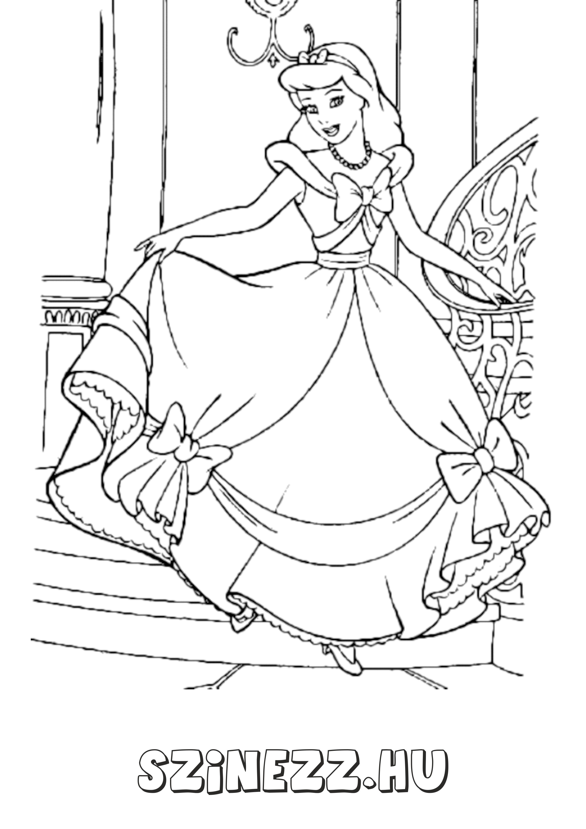 hercegnő kifestő színező, hercegnős kifestők színező hableány kifestő, hófeherke, csipkerózsika, hamupipőke, ariel