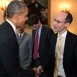 Obama elnök fogadta a Prezi vezérigazgatóját