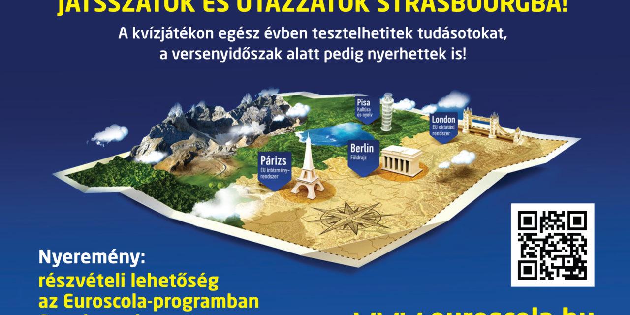 Euroscola-játék strasbourgi kalandért!