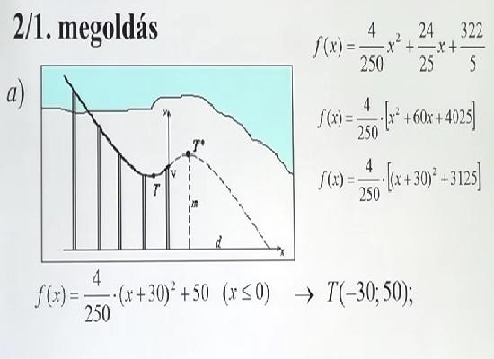 2. feladatsor – Emelt szintű matematika érettségi felkészítő videó