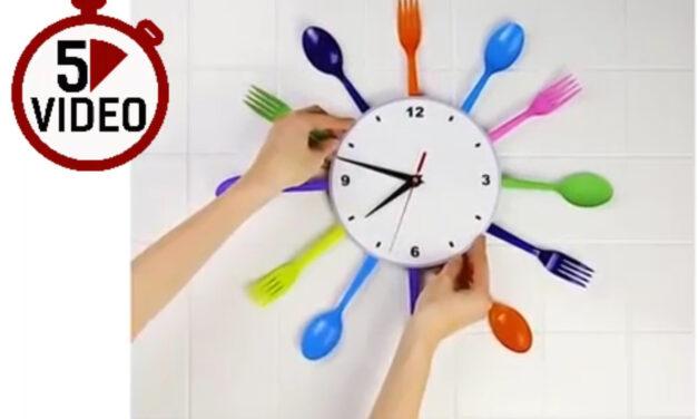 Látványos dizájn óra a konyhádba – Rövid DIY videó