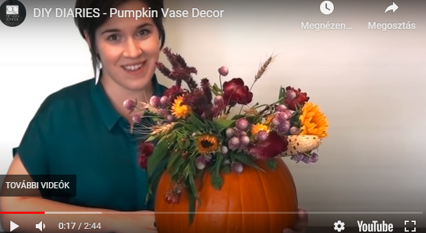 5 perc alatt elkészíthető csodaszép őszi dekoráció