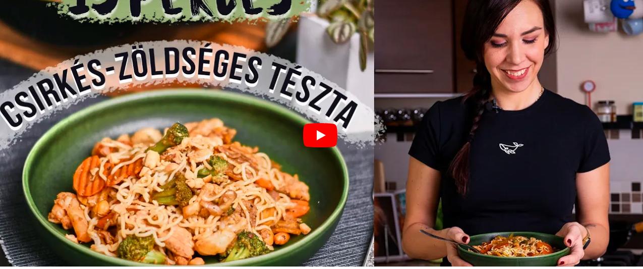15 perces csirkés-zöldséges tészta