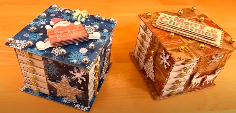 Adventi kalendárium gyufásdobozból | Karácsonyi ötletek | Manó kuckó